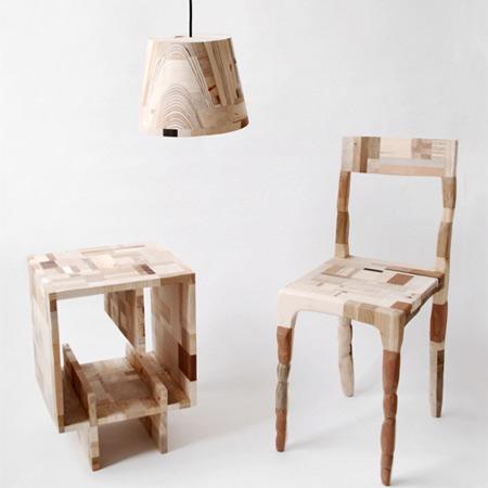Int rieur mobilier cr e partir de mat riaux recycl s for Chaise norvegienne