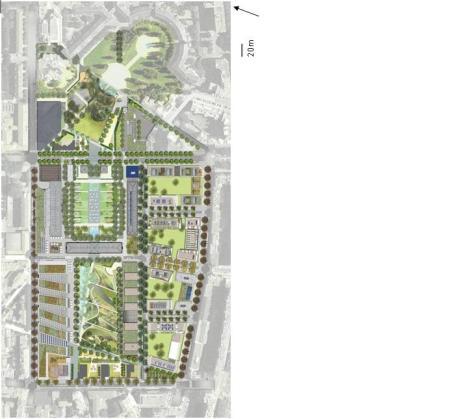 7- Plan masse de la ZAC de la caserne De Bonne